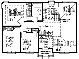 Split Level Homes Plans Split Entry House Plans Design Basics