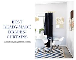 Black And White Draperies Secrets To Inexpensive But Good Drapery Emily Henderson