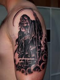 flash reaper bicep tattoo design creativefan