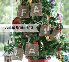 how to make naturally pine scented burlap ornaments
