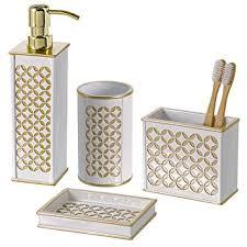 amazon com diamond lattice 4pc bath accessory sets decorative