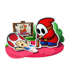 paper mario color splash mario and shy guy share a moment