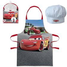 tablier cuisine pour enfant tablier et toque cars achat vente tablier de cuisine cdiscount