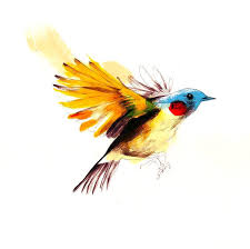 bird in fly tattoo design