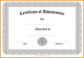 8 free printable achievement certificate templates sample of