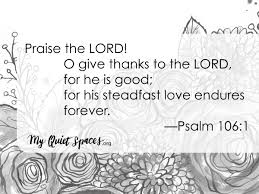 a psalm of thanksgiving my spaces