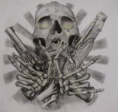 skull and guns by ifinch on deviantart