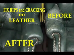 How To Fix Scratched Leather Sofa Fix Rips And Cracking On A Leather Chair Youtube