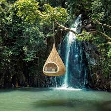 Hanging Swing Chair Outdoor by Wonderful Unusual Patio Furniture Outdoor Wicker Swing Chair