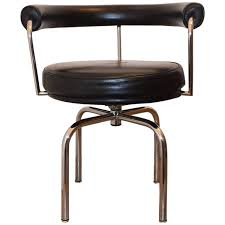 Black Swivel Chair Black Leather Swivel Chair Cassina Lc7 By Charlotte Perriand At