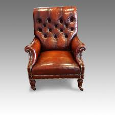 victorian leather reading chair hingstons antiques dealers