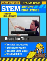 Challenge Reaction Stem Activity Challenge Reaction Time 3rd 5th Grade By Science
