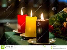 Belgian Flag Red Yellow And Black Candles Composing Belgian Flag At Belgium