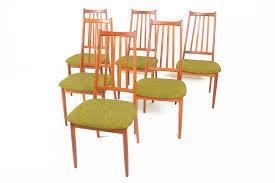 Teak Dining Chairs For Sale Set Of Six Danish Modern Highback Teak Dining Chairs U2022 Mid Century