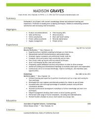 Free Resume Templates That Stand Out Cosmetologist Resume Template Cosmetologist Resume Examples