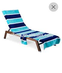 Lounge Chair Towel Covers Cotton Terry Fitted Lounge Chair Cover Beach Towel With Elastic
