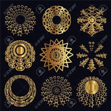 design and caligraphic elements gold ornaments for page