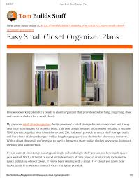 Free Easy Small Woodworking Plans by Easysmallclosetorganizerplans Jpg