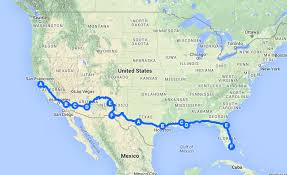 New York On Us Map by Us Road Trip Cross Country U2013 From Coast To Coast On And Off The I