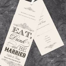 Eat Drink And Be Married Invitations Black Wedding Invitations Paper Themes Wedding Invites