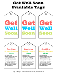 feel better soon gift basket get well soon gift basket with free printable tag