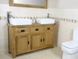 Double Vanity Units For Bathroom by Rustic Oak Double Bathroom Vanity Unit Like But Not Sure If Right
