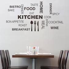 astounding kitchen with wall quotes decals combined white wall