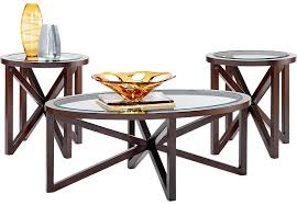 kenshaw espresso 3 pc table set table sets dark wood