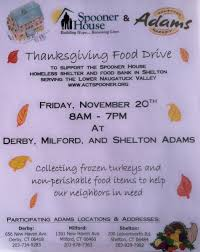 thanksgiving food drive items view from the valley november 2015