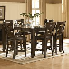 7 Piece Counter Height Dining Room Sets Homelegance 1372 36 Crown Point Counter Height Dining Table The Mine