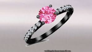 black and pink engagement rings pretty mysterious black engagement rings with pink stones