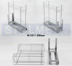Pull Out Wire Baskets Kitchen Cupboards by Chrome Pull Out Wire Baskets Kitchen Base Larder Units Cupboards