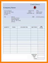 credit memo template free download u2014 david dror