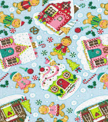 holiday inspirations christmas fabric gingerbread men u0026 houses