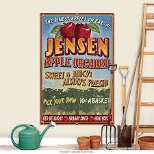 Kitchen Apple Decor by Jensen Apple Orchard Farm Stand Wall Decal Kitchen Decor