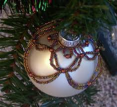 beaded christmas ornament howto youtube