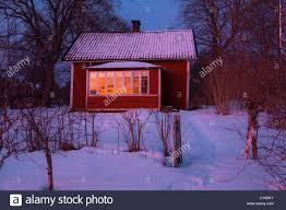 Old Fashioned House Old Fashioned House At Sunset In Roslagen Sweden Stock Photo