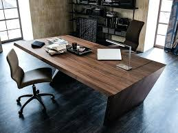 Wooden Office Desk Office Desk Wood White With Solid Legs Tandemdesigns Co