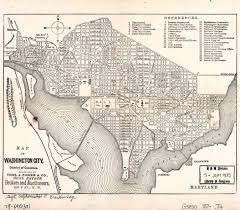 State Of Washington Map by Large Detailed Old Map Of Washington City District Of Columbia