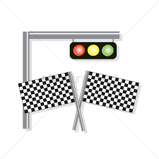 Images Of Racing Flags Free A Traffic Light And Racing Flags Vector Image 1236719
