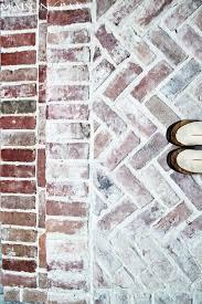 Herringbone Brick Patio Stamped Concrete And Aged Brick Patio Maison De Pax