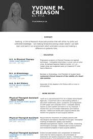 physical therapist resume template physical therapist resume sles visualcv resume sles database