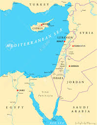 World Map Rivers by Eastern Mediterranean Political Map With National Capitals Borders