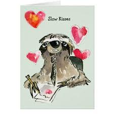 sloth valentines day card kisses sloth card sloth