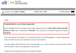 Citi Card Business Credit Card My Recent Credit Card Applications Chase Ink Plus Citi Hilton