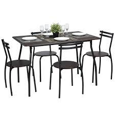 n b f reeder kitchen dining set of 5pcs 1 table 4 chairs walnut