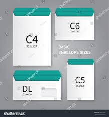stationery envelopes royalty free vector mockup design of 4 types of 358477994 stock