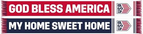 us soccer scarf god bless america ruffneck scarves