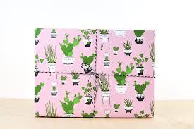 designer wrapping paper cactus gift wrap pink gift wrap paper designer wrapping paper