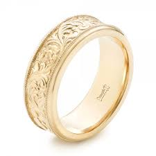 engraving on wedding bands custom engraved men s wedding band 102980